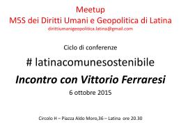 incontro con Vittorio Ferraresi 6 ottobre 2015