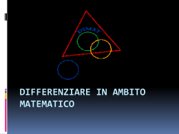 Differenziare in ambito matematico