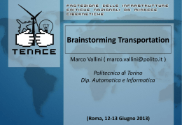 TENACE KICK-OFF meeting - Dipartimento di Informatica e