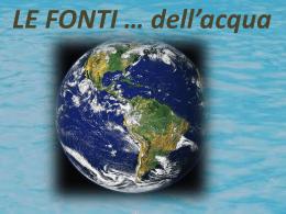 Le fonti di acqua - Home - Istituto San Giuseppe Lugo