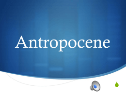 Antropocene - WordPress.com