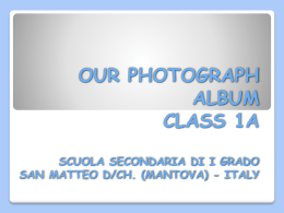 OUR PHOTOGRAPH ALBUM - IC Dosolo Pomponesco Viadana