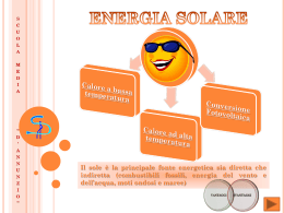 ENERGIA SOLARE Power point
