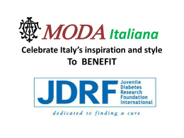 MODA Italiana Celebrate Italy*s inspiration and style To BENEFIT