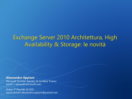 Exchange 2010 Webcasts