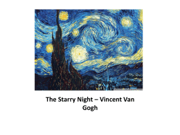 The Starry Night – Vincent Van Gogh