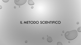 Il metodo scientifico_ppt