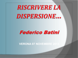 Riscrivere la dispersione