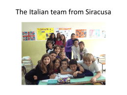 The Italian team from Siracusa