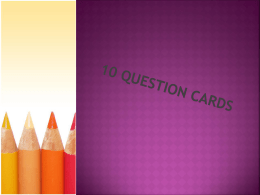 10 Question Cards