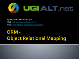 ORM - Object Relational Mapping
