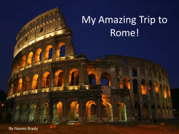 My Trip to Rome