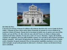 Duomo Pisa - Portale Istituto Comprensivo GB Niccolini, San