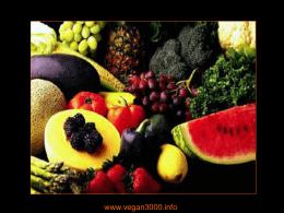 L`alimentazione vegetariana