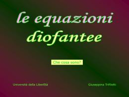 equazione DIOFANTEA