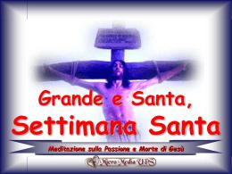 Meditazione sulla Passione e Morte di Gesù