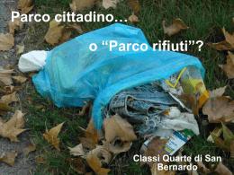 Parco cittadino - cl. quarte - a.s. 2011