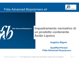 Fidia Advanced Biopolymers srl
