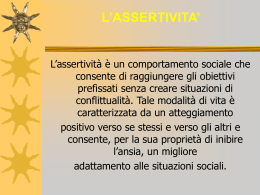 L`ASSERTIVITA` - Liceo scientifico Michelangelo