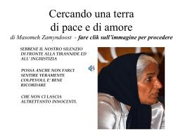 Cercando una terra di pace e di amore di Masomeh Zamyndoost