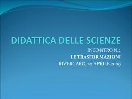 Didattica delle Scienze 2 - istituto comprensivo di bobbio c