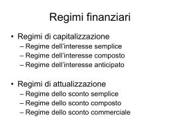 Regimi finanziari