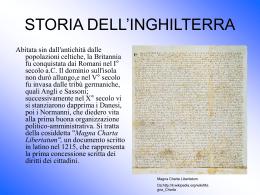 storia dell`inghilterra - Liceo Classico Psicopedagogico Cesare