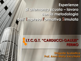 """Presentazione illustrata al Convegno dall`ITCGT """"Carducci"""