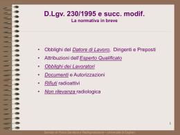 Il DLgv230 in breve