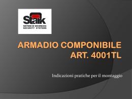 Montaggio armadio 4001T/L