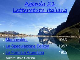 Rapporto Uomo-Natura nell`Opera di Italo Calvino