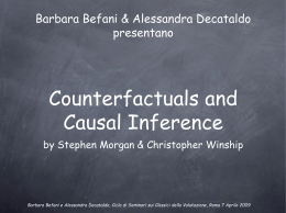"Counterfactuals and causal inference"" di Morgan e Winship"