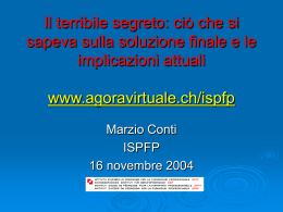 Presentazione power point (diapositive mostrate durante il corso)
