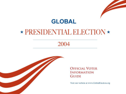 Click here to - global presidential election