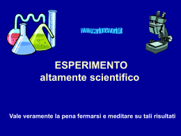 Esperimento - Alchool Team.it