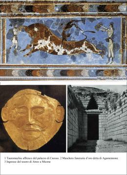 1 Tauromachia affresco del palazzo di Cnosso. 2