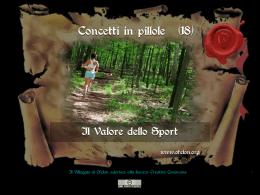 n. 18 - IL VALORE DELLO SPORT