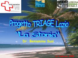 Il Progetto Triage Lazio: La Storia - Agenzia di Sanità Pubblica della