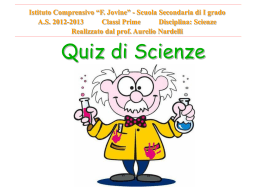Quiz di Scienze