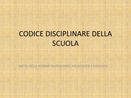 codice disciplinare della scuola - Direzione Didattica IV Circolo di