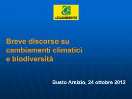 Breve Discorso su Cambiamenti climatici e Biodiversità (Legambiente)