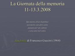 Giornate della memoria 2008