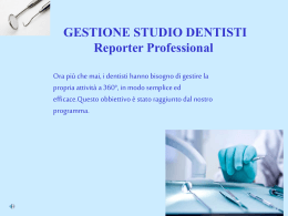 Studi Dentistici - reporterprofessional.it