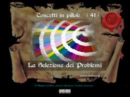 n. 41 - LA SELEZIONE DEI PROBLEMI