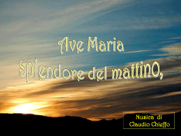 Ave Maria Splendore del Mattino