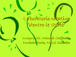 "Laboratorio creativo ""dentro le storie"""