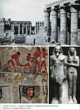 1 Tempio di Luxor. 2 Tempio di Ptahiruka a
