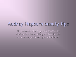 Audrey Hepburn beauty tips