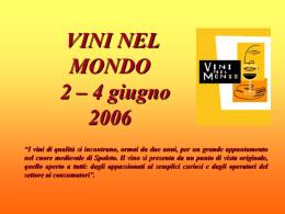 VINI NEL MONDO 2 – 4 giugno 2006