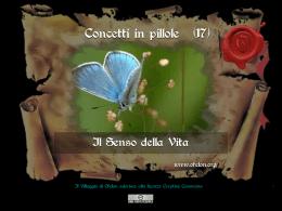 n. 17 - IL SENSO DELLA VITA